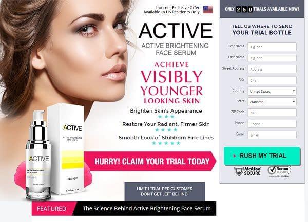 Active Brightening Face Serum